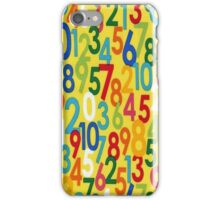 Numbers 1234 iPhone Case/Skin
