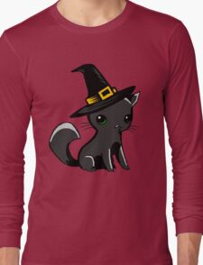 Myu the Candyfloss Cat... on Halloween! Long Sleeve T-Shirt