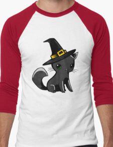 Myu the Candyfloss Cat... on Halloween! Men's Baseball ¾ T-Shirt