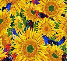 Sassy Sunflowers by purplesensation