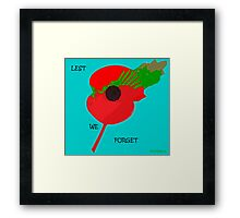 Abstract Art - Poppy 001 Framed Print