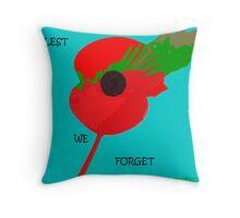 Abstract Art - Poppy 001 Throw Pillow