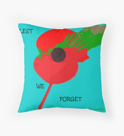 Abstract Art - Poppy 001 Throw Pillow