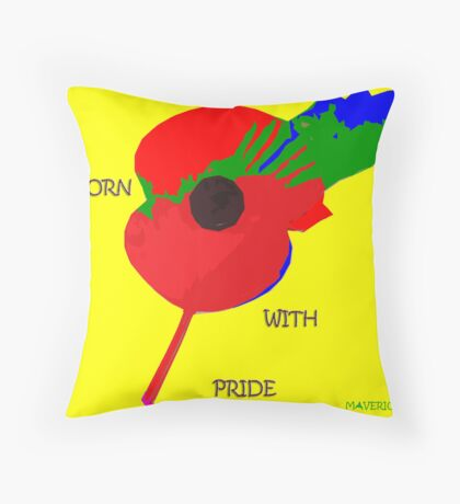 Abstract Art - Poppy 002 Throw Pillow