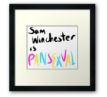 Pansexual Sam Winchester Framed Print