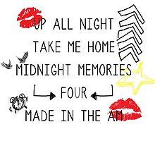 One Direction Album Doodle by RileyElizabeth9