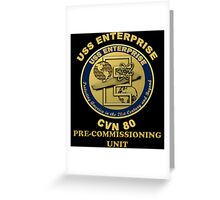 PCU Enterprise Crest for Dark Backgrounds Greeting Card
