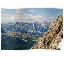 View from Monte Lagazuoi, Dolomite Mountains, Italy Poster
