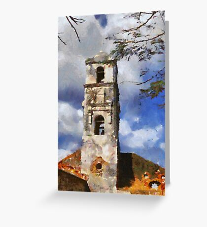 Church in Trinidad, Cuba Greeting Card