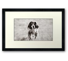 still running Framed Print