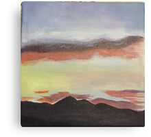 Sunset Sky Among Mountains Canvas Print