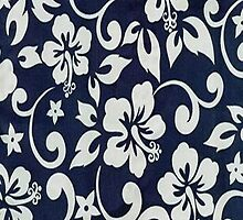 Blue Floral Print by purplesensation