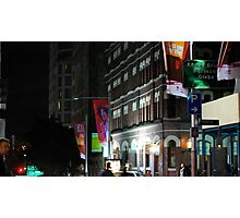 bright lights in the cbd Photographic Print