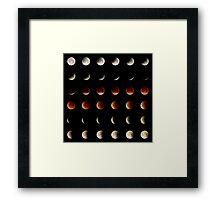 2015 Lunar Eclipse Matrix Framed Print