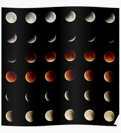 2015 Lunar Eclipse Matrix Poster