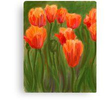 Vibrant Orange Tulips Canvas Print