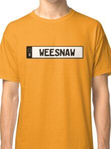 Euro plate simple - weesnaw Classic T-Shirt