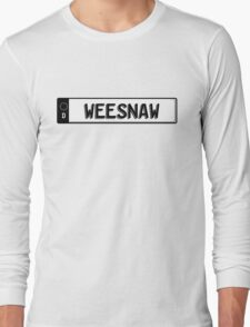 Euro plate simple - weesnaw Long Sleeve T-Shirt