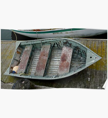 Small Working Boat On Dock Poster