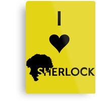 Love Sherlock Metal Print