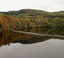 Pitlochry - A view over the dam by Dawn (Paris) Gillies