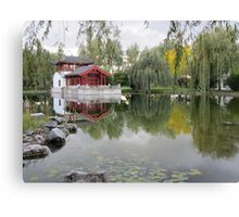 Reflections in Chinese Garden Canvas Print