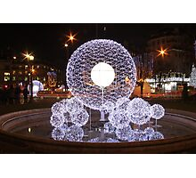 Glowing Bubbles Photographic Print
