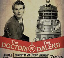 Doctor Who vs The Daleks by breedcity
