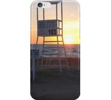 Sunset along Lake Michigan at Silver Beach - 7 iPhone Case/Skin