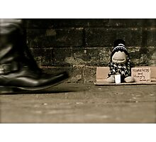 Homeless and Hungry Photographic Print