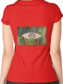 Sea Monster Eye   (t-shirt) Women's Fitted Scoop T-Shirt