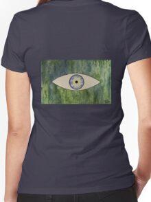 Sea Monster Eye   (t-shirt) Women's Fitted V-Neck T-Shirt