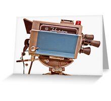 Retro Television Studio Camera Greeting Card