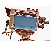 Retro Television Studio Camera Photographic Print