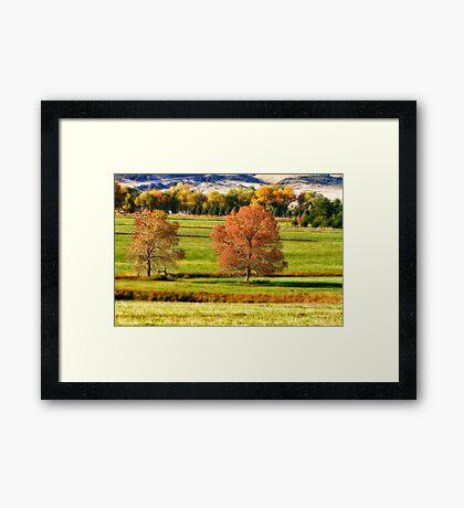 Colorful Autumn Landscape Dream Framed Print