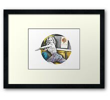 PINUP PANTS GIRL Framed Print