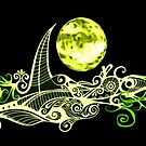 Card - Lunar Sailing - Lime by MelDavies