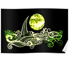 Card - Lunar Sailing - Lime Poster