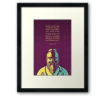 Confucius quote: When you see a good person Framed Print