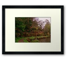 A walk by the canal Framed Print