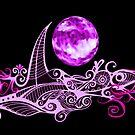 Card - Lunar Sailing - Magenta by MelDavies