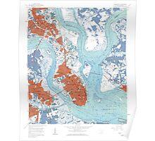 Charleston South Carolina Map Art Poster