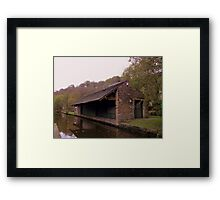 Uppermill Canal Framed Print
