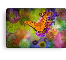 Butterfly amid the Blossoms Canvas Print