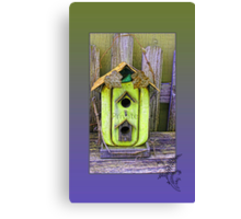 "Rustic ""Private"" Birdhouse Canvas Print"
