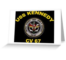 USS John F. Kennedy (CV-67) Crest for Dark Colors Greeting Card