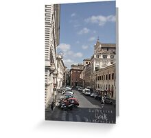 City life in Rome 1 Greeting Card