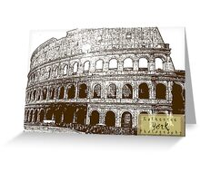 coliseum - Rome, Italy Greeting Card