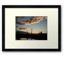 NOVEMBER SUNSET 2011 - ECONFINA CREEK, BAYOU GEORGE, FL Framed Print