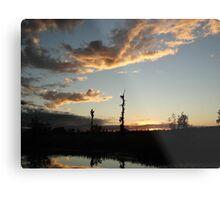 NOVEMBER SUNSET 2011 - ECONFINA CREEK, BAYOU GEORGE, FL Metal Print